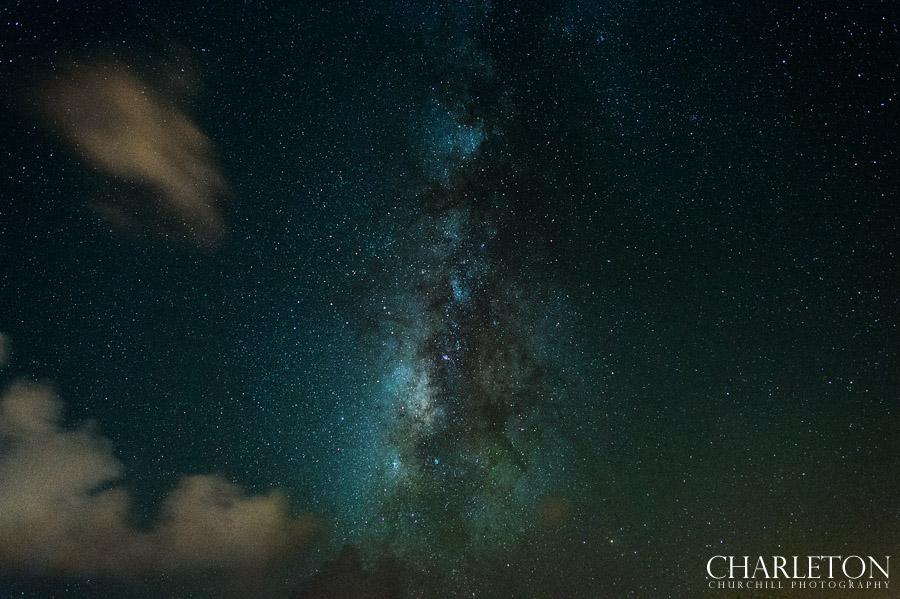 milky way galaxy stars on island
