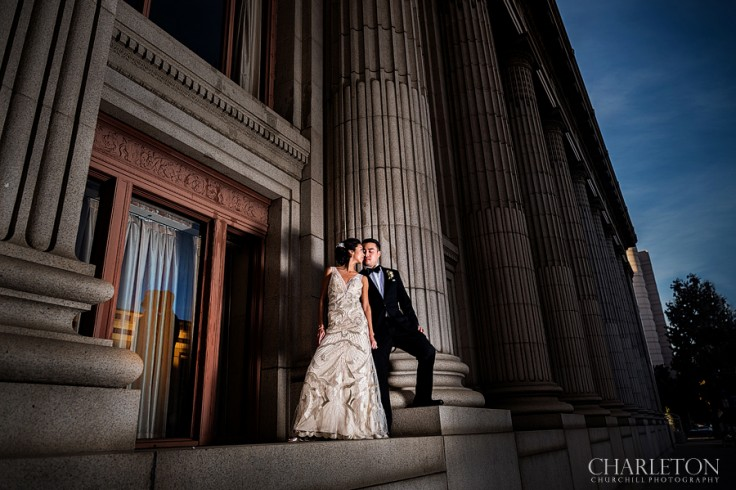 grand ballroom wedding photos outside
