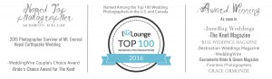 top 100 wedding photographers in the US