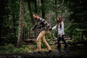 outdoors wilderness photos for engaged couples