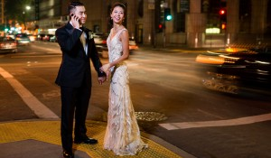 slow shutter wedding downtown