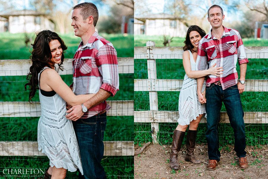 couple engaged photography