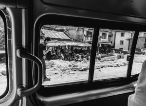 kathmandu, nepal while driving