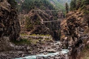 high bridges along everest base camp trail