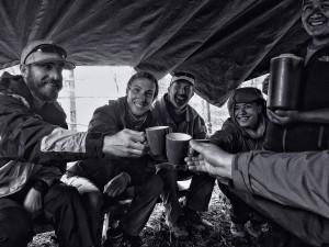 celebrating life under tarps