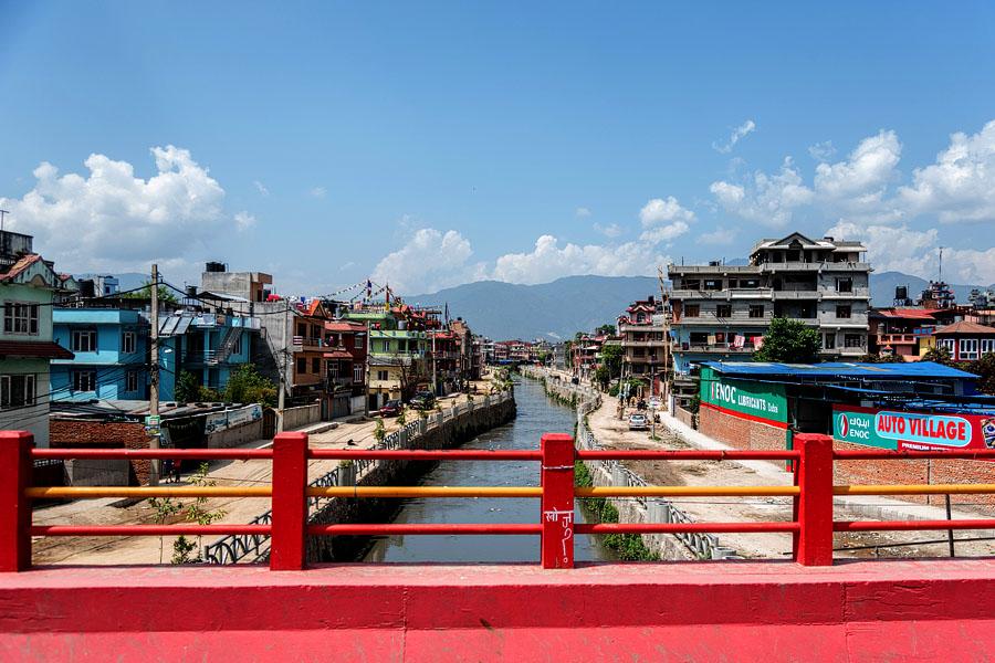 the river through Kathandu