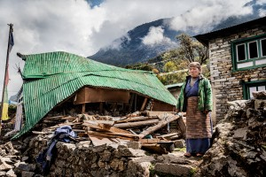 lady who lost her home