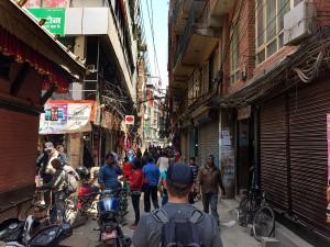 walking downtown kathmandu