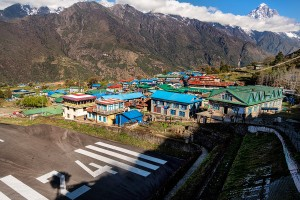 start of everest trek at lukla dangerous airport