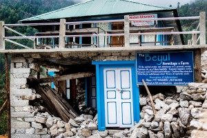 a commercial building along everest trail destroyed