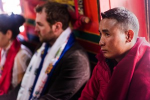 monk and bride and groom on everest