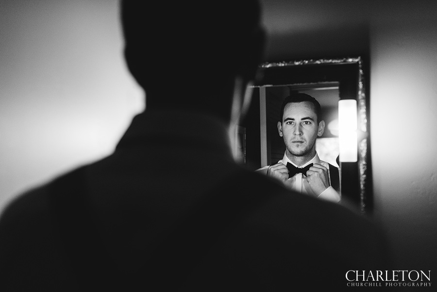 groom bow-tie wedding