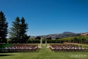 ceremony at trentadue venue sonoma
