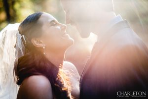 sunset haze during wedding in arnold, ca.