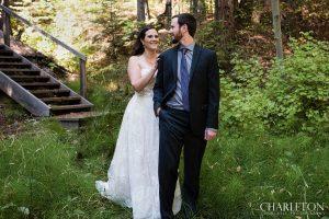 bride and groom reveal in murphys calif.