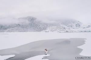 epic Alaska adventure wedding photos of couple
