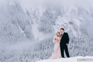 snowy winter mountain wedding