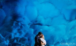 ice-cave wedding photography