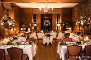 ahwahnee wedding reception room details