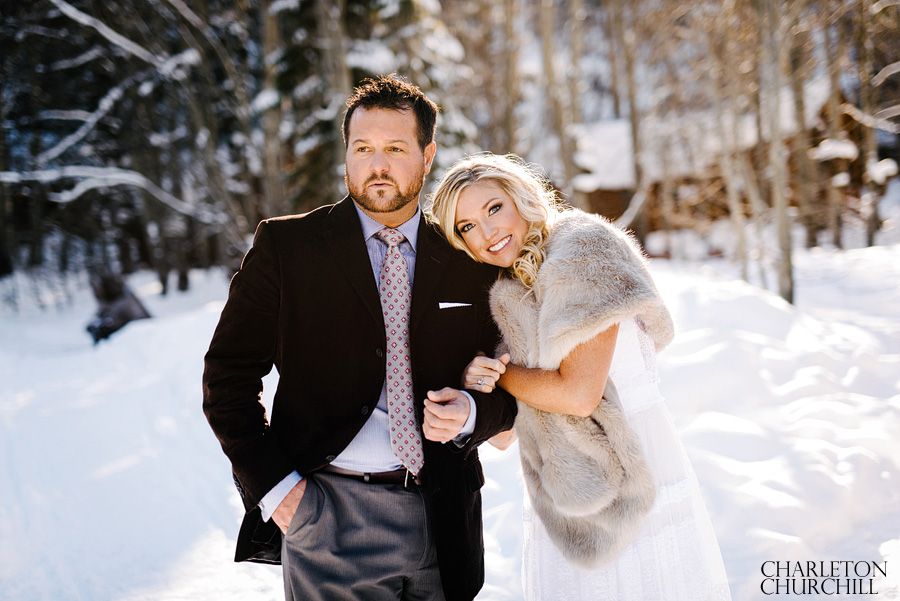 Woodsy Wedding Photos Snowy Cure Winter