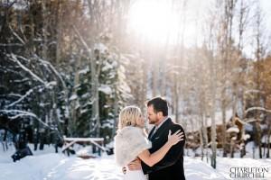 romantic woodsy wedding photos
