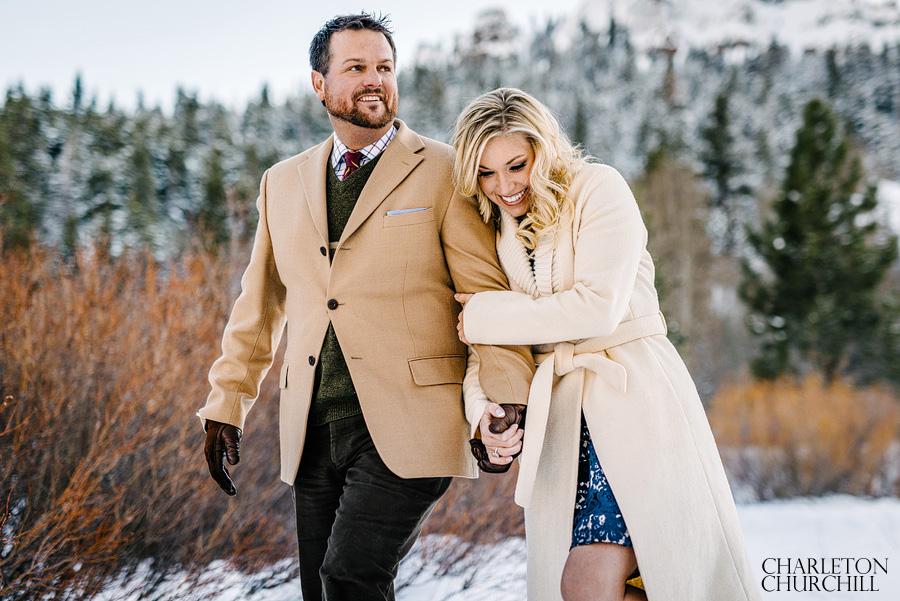 cure winter engagement photos