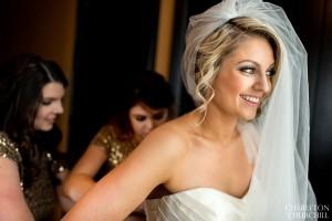 happy bride at citizen hotel sacramento