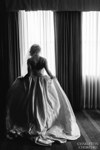 epic bride photo at hotel