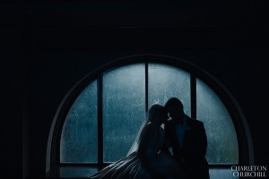 rainy day wedding photos silhouette
