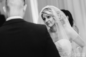 bride cries at groom reading vows