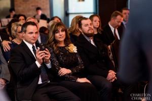 parents emotional during ceremony