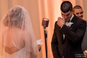 groom with a tear