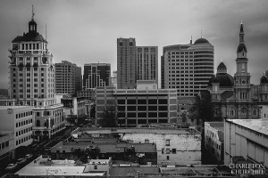 city of sacramento out of the window
