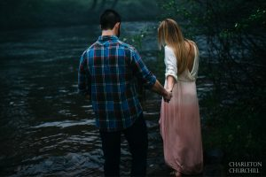 foggy river couples photos