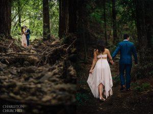 hiking woodsy engagement