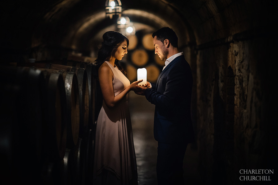 Castello di Amorosa engagement photographer