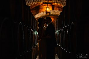 back light in the winery of napa