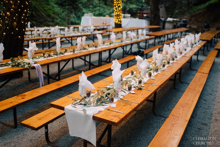 reception details in the forest