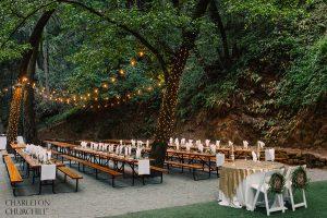 forest wedding reception