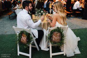 wedding reception toast of bride groom