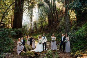 saratoga springs wedding party photos