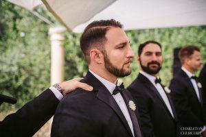 emotional groom love seeing his bride