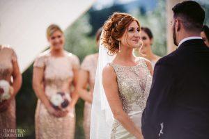 bride smiles