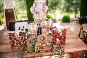 wed table decor and details