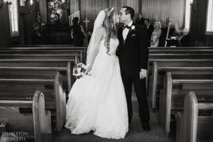 intimate wedding at church of Yosemite Park