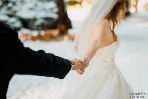 fine art adventure wedding in the winter snow