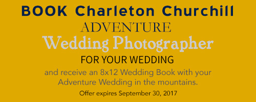 adventure wedding photography booking discount album giveaway, 8x12 album offer expires sept. 30, 2017
