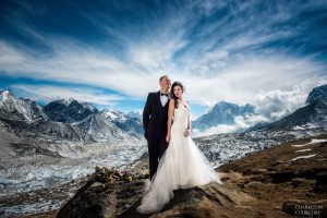 adventure wedding on mt everest base camp by charleton churchill