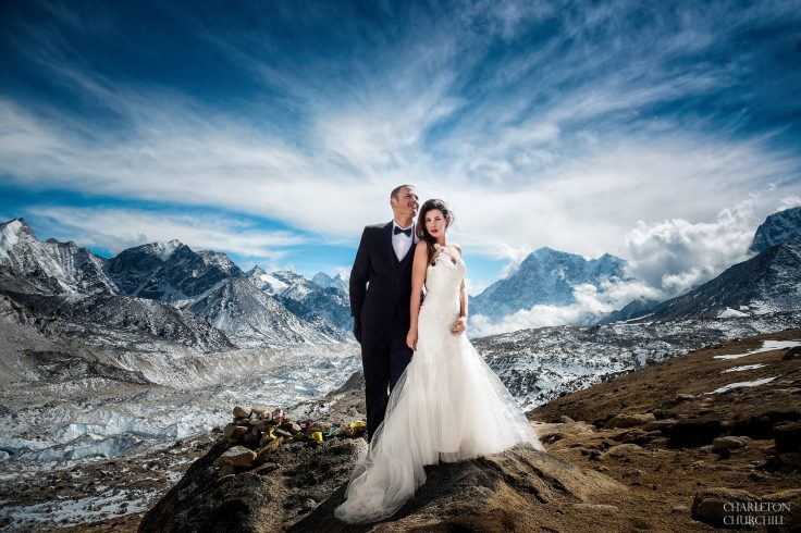 adventure wedding on mt everest base camp by charleton churchill