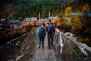 engagement photos in himalayas mountains
